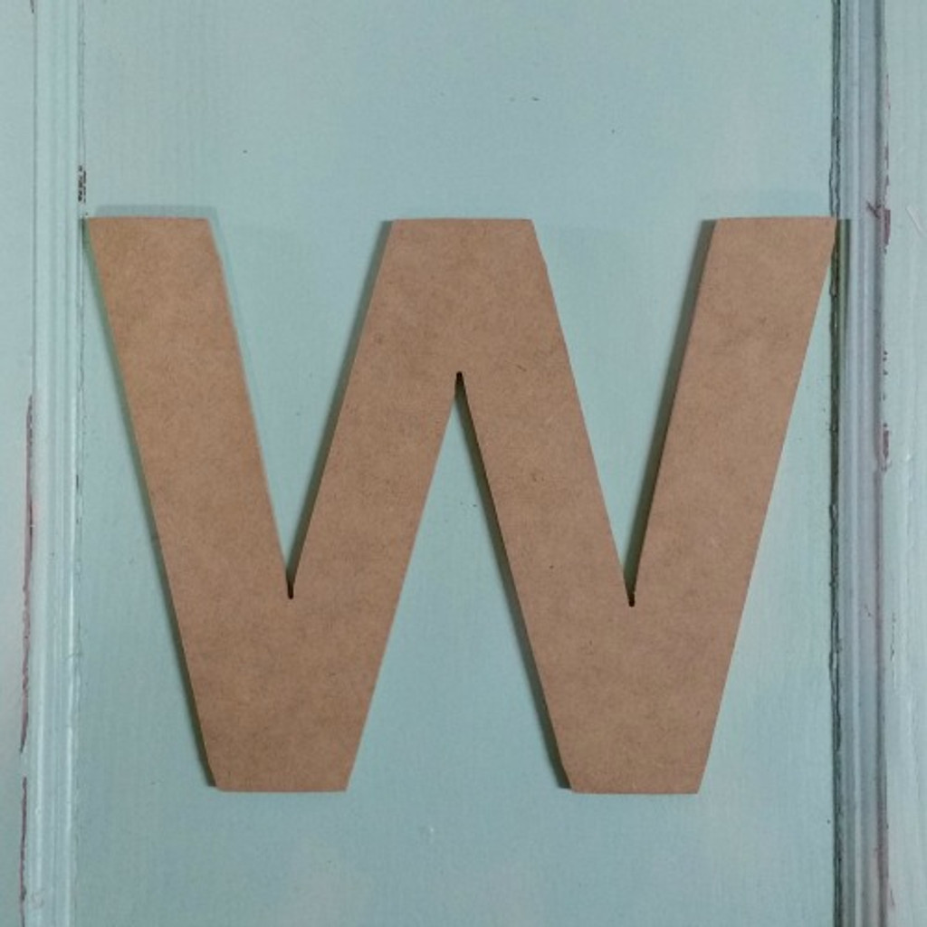 Wood letter decor look great with our wooden cut out shapes.