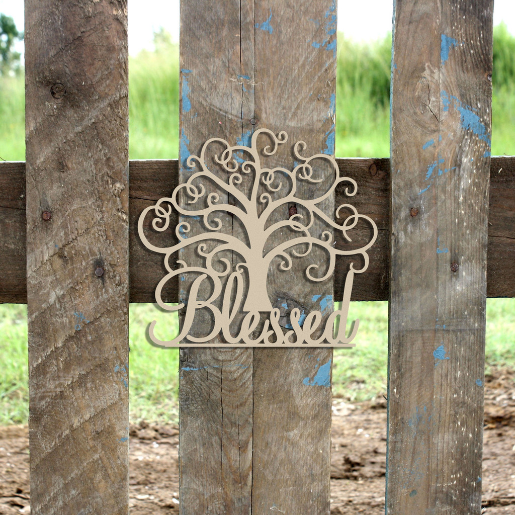 "21"" Blessed Tree Unfinished Cutout, Wooden Shape, MDF DIY"