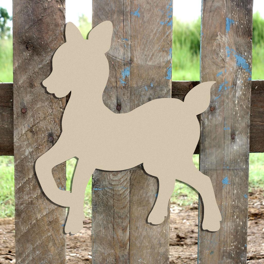 Woodland Deer, Baby Deer Unfinished Cutout, Wooden Shape,  Paintable MDF DIY