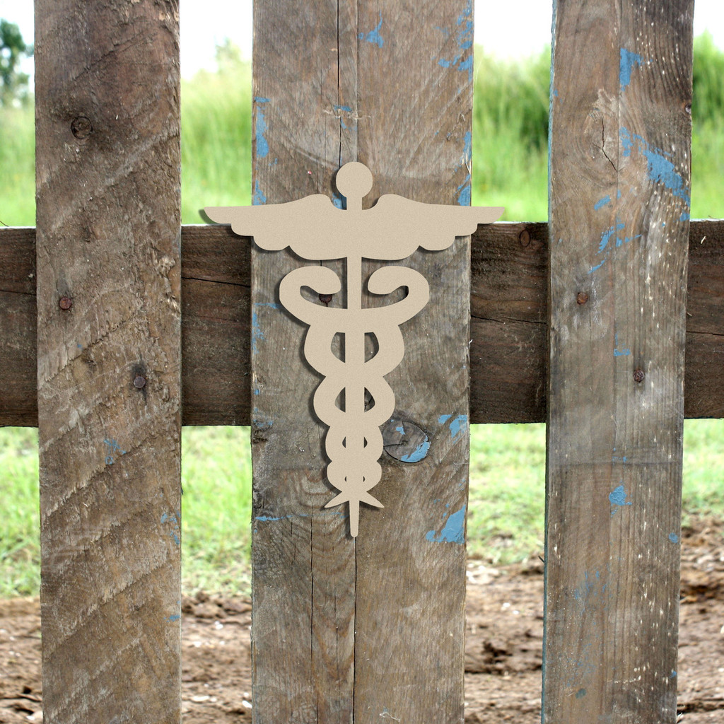 Caduceus Cap Unfinished Cutout, Wooden Shape, Paintable Wooden MDF DIY