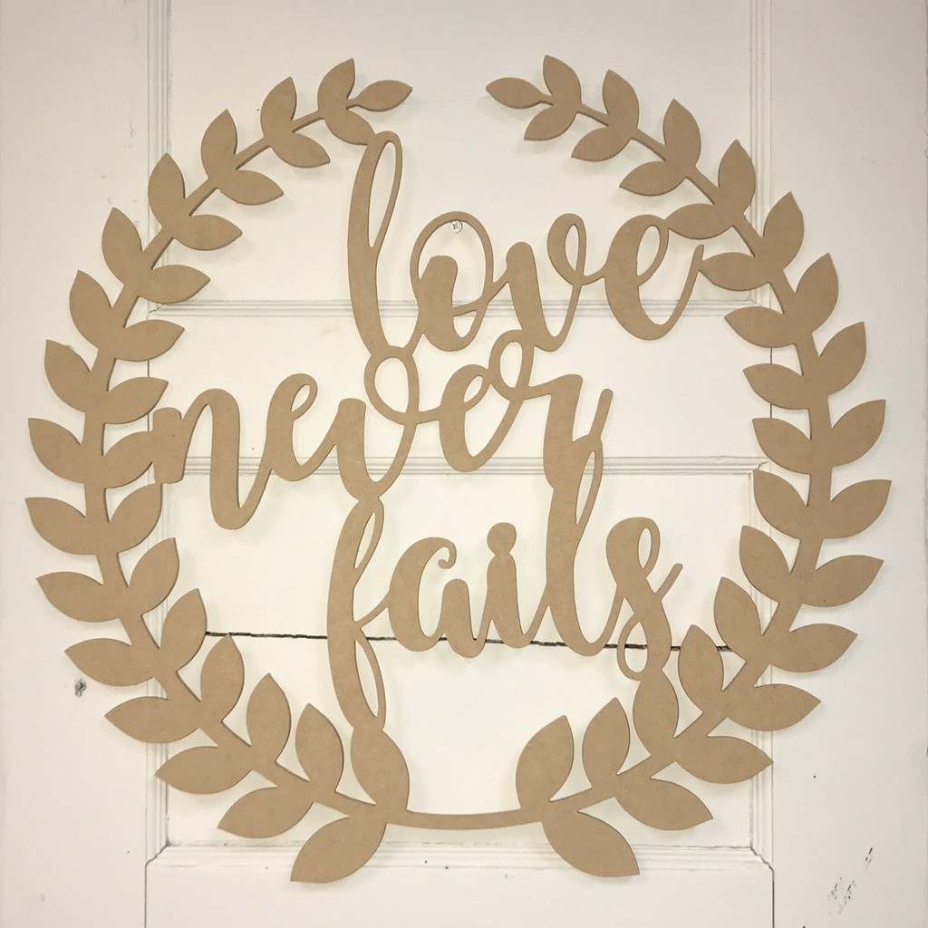 "Home Decor Wall Art Word Cutout /""love/"" Unfinished Cutout"