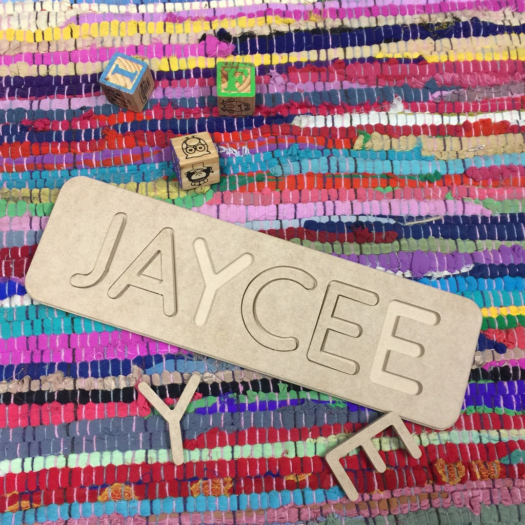 Children's Name Puzzle, 2 Letter Unfinished Personalized Wood Puzzles