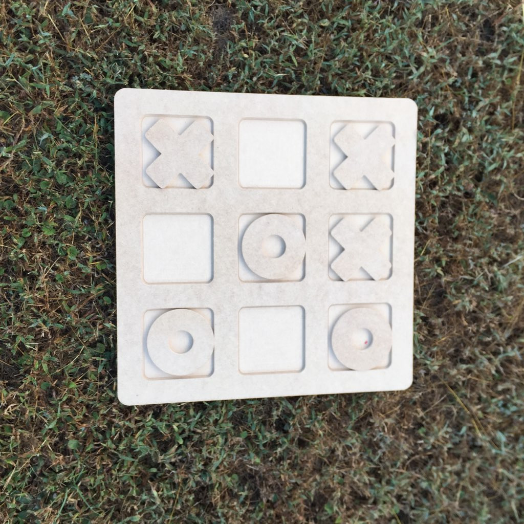 Tic Tac Toe Game, Unfinished Children Game