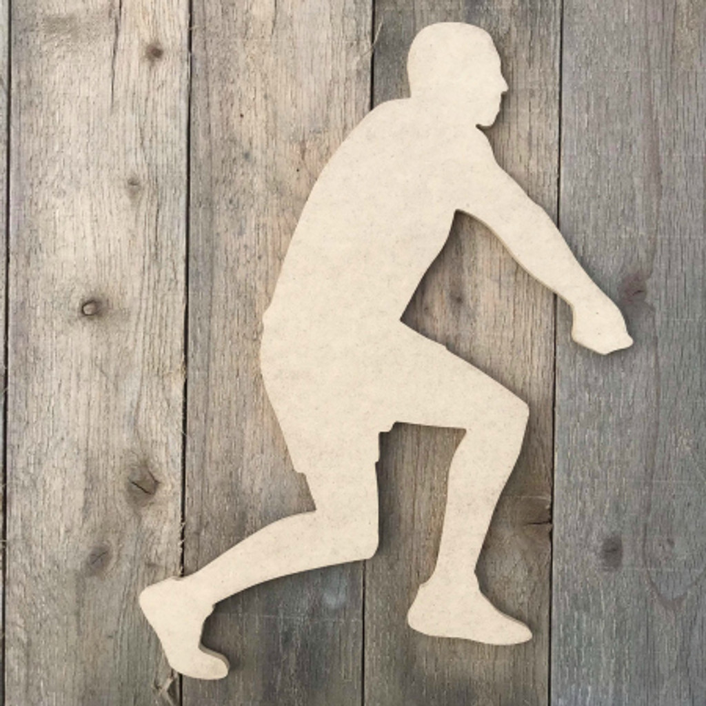 Volleyball Player Assist Unfinished Cutout  Wooden Shape MDF