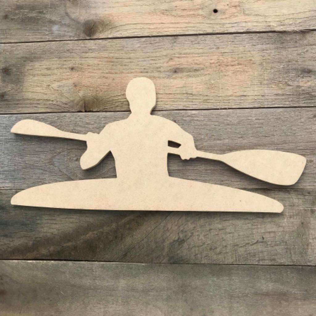 Canoe Slalom Kayak Boat Wooden Unfinished Shape