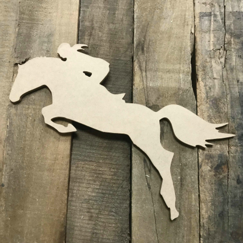 Horse Riding Jumping Equestrian Unfinished Wooden Sport Shape