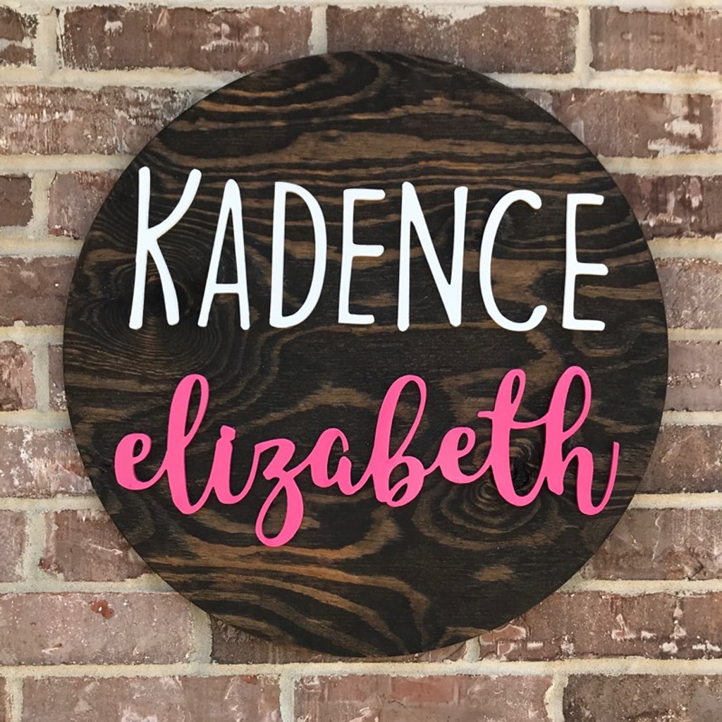 Unfinished Nursery Circle Nursery Name Sign