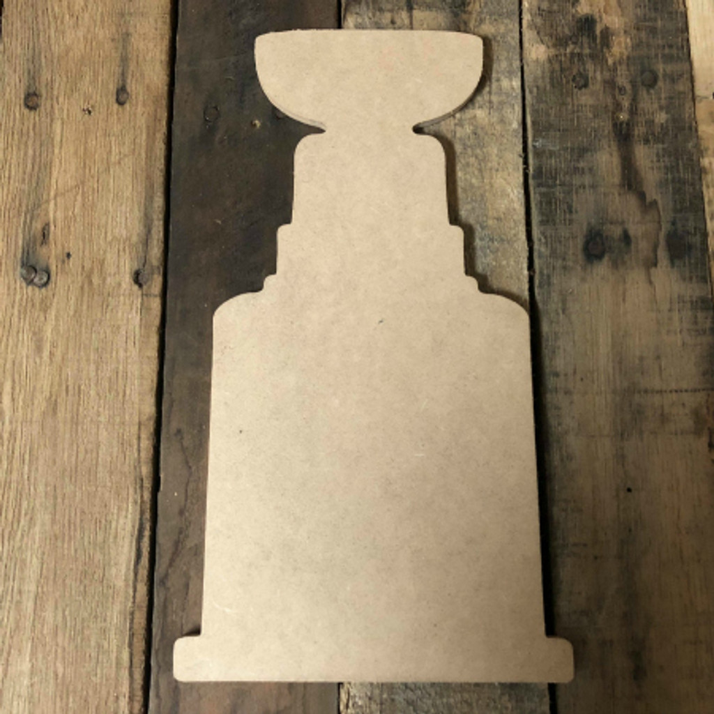Hockey Stanley Cup Unfinished Cutout Wooden Shape