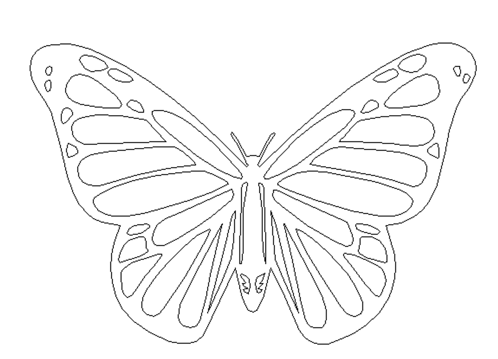Butterfly 3 Cutout Unfinished Wooden Decor Wood Cutout MDF