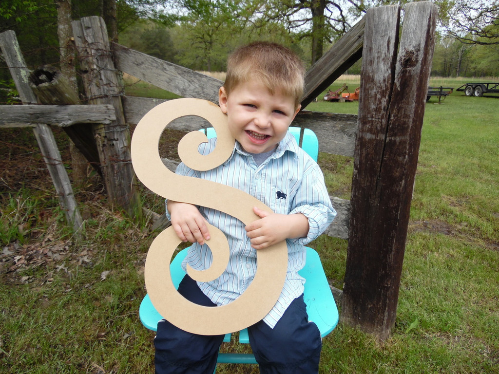 Custom Letters for Walls Wooden Letter Cut Outs (S) Curlz Wood Letter