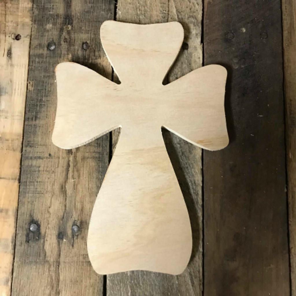 DIY Wall Cross, Paintable Wooden Cross, MDF Cross Pine (25)