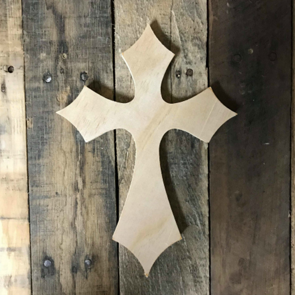 Wooden Wall Cross, Unfinished Wood Cross Craft, DIY Pine (39)