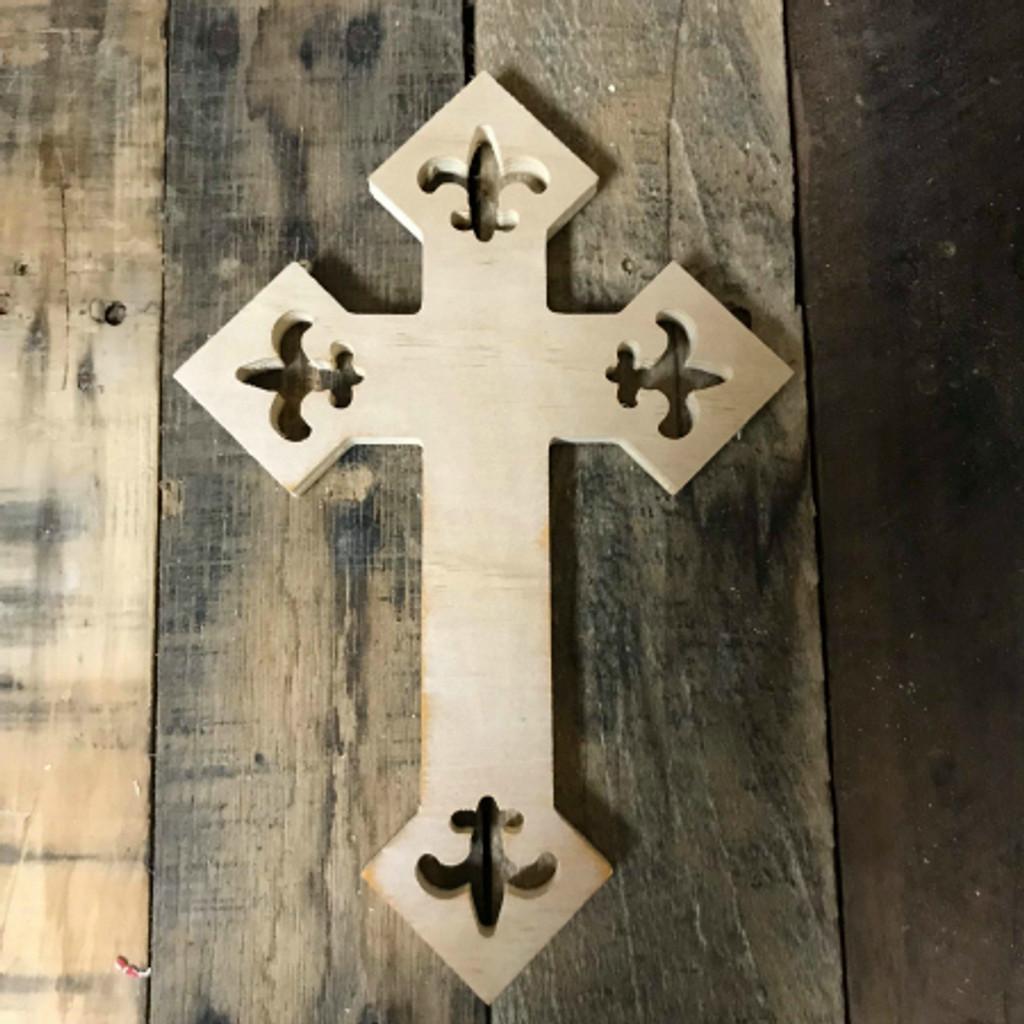 Unpainted Craft Cross Diy Wooden Crosses Wall Art Pine 59