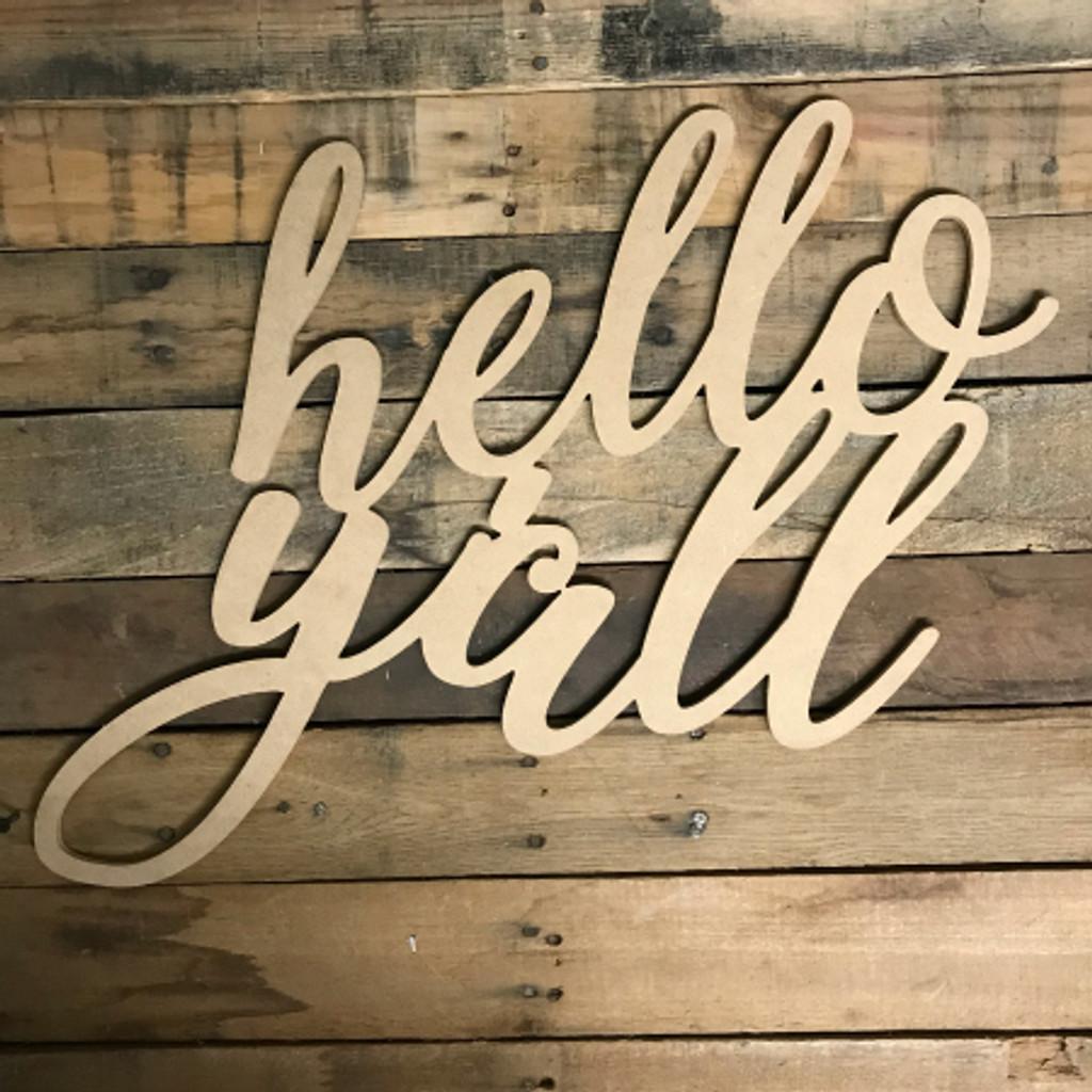 Script Hello Yall, Alphabet Paintable DIY