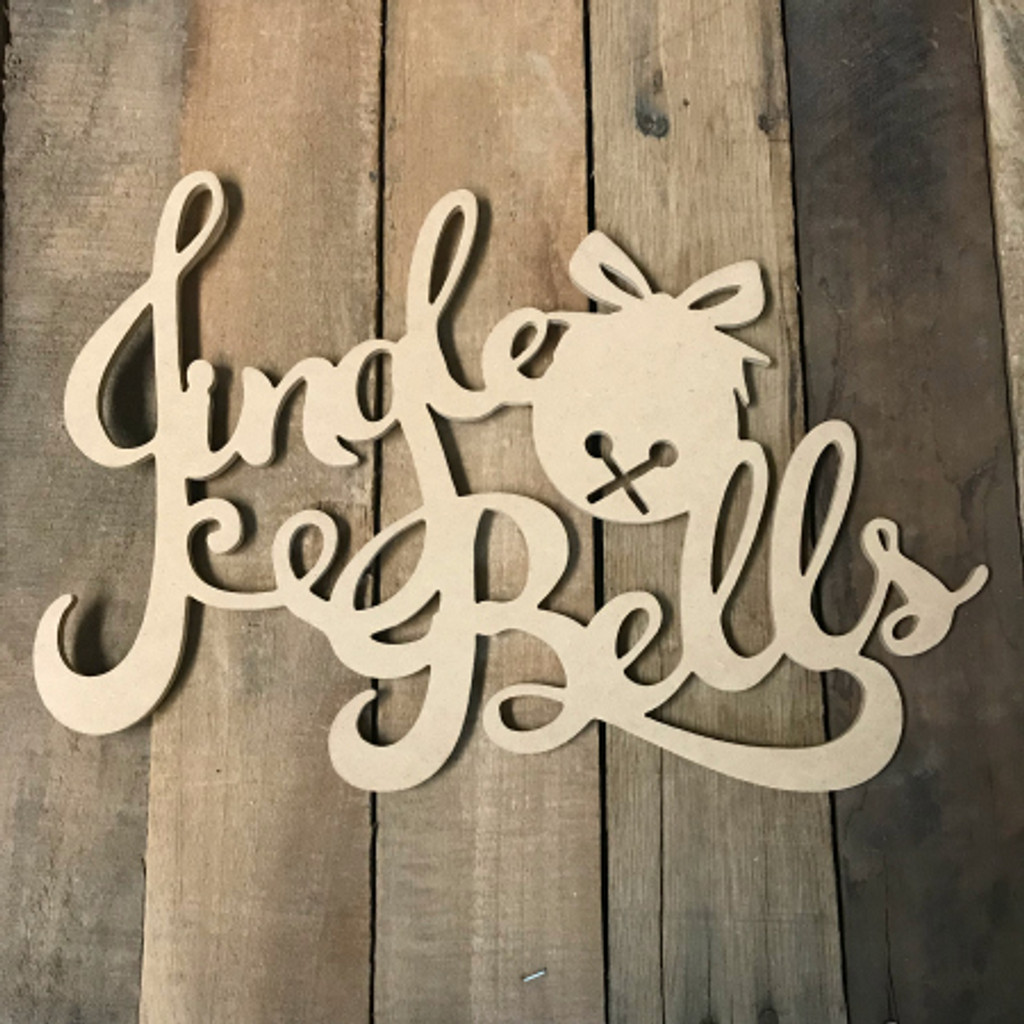 Jingle Bells Word, Alphabet Paintable DIY