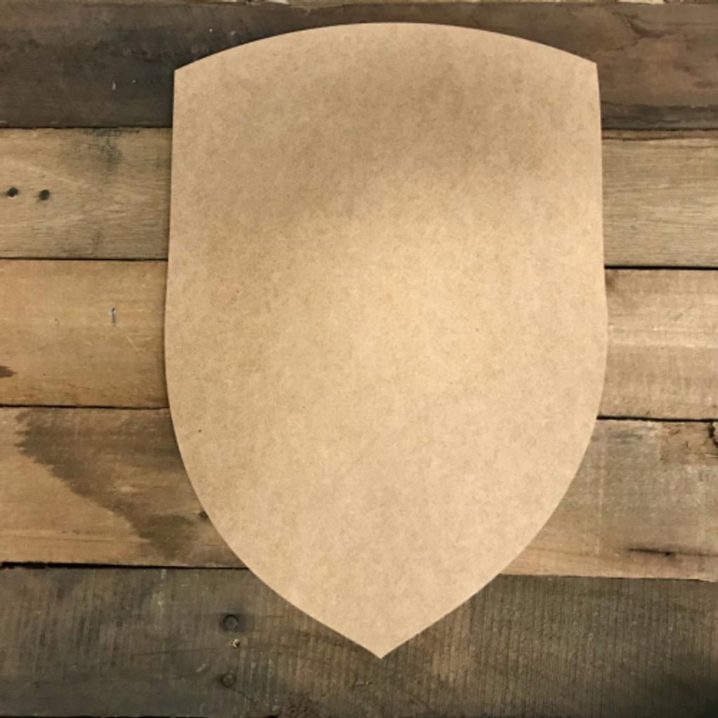 Wooden Shield Cutout, Wood MDF Shape, Craft Wood Shape