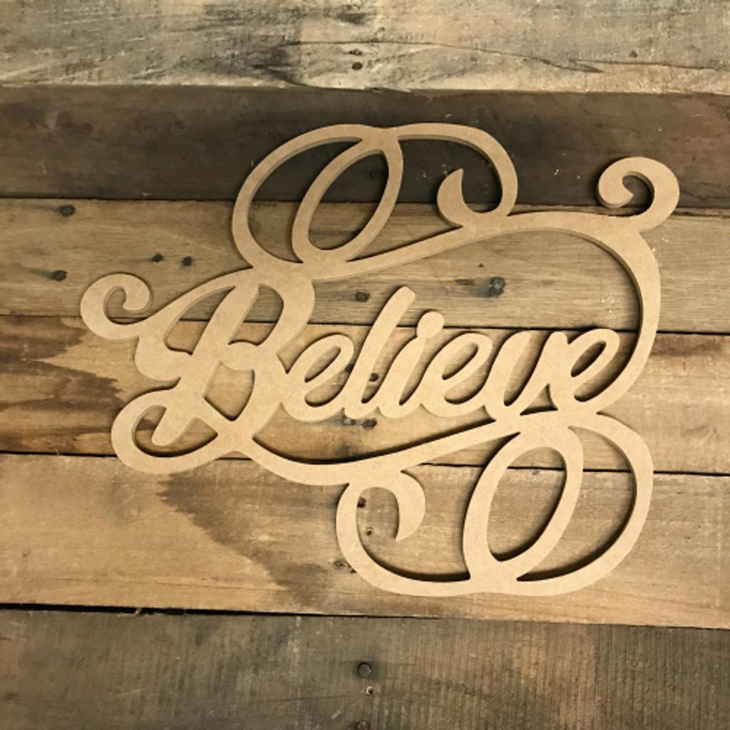 Believe Word, Alphabet Paintable DIY