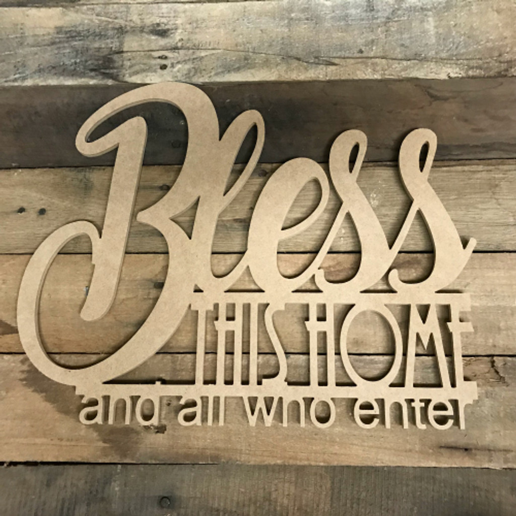 Bless this Home Word, Alphabet Paintable DIY