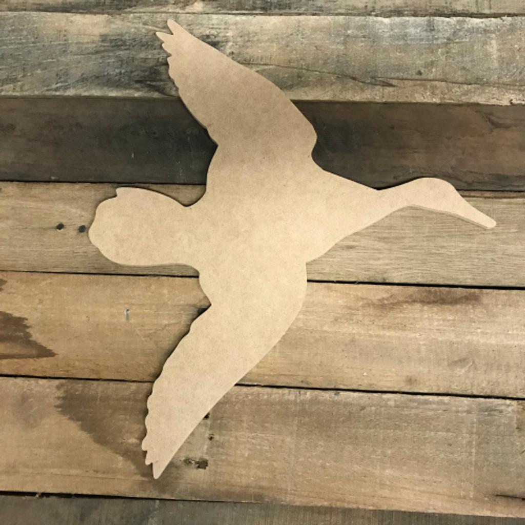 Wooden Duck Flying Cutout, Wood MDF Shape, Craft Wood Shape