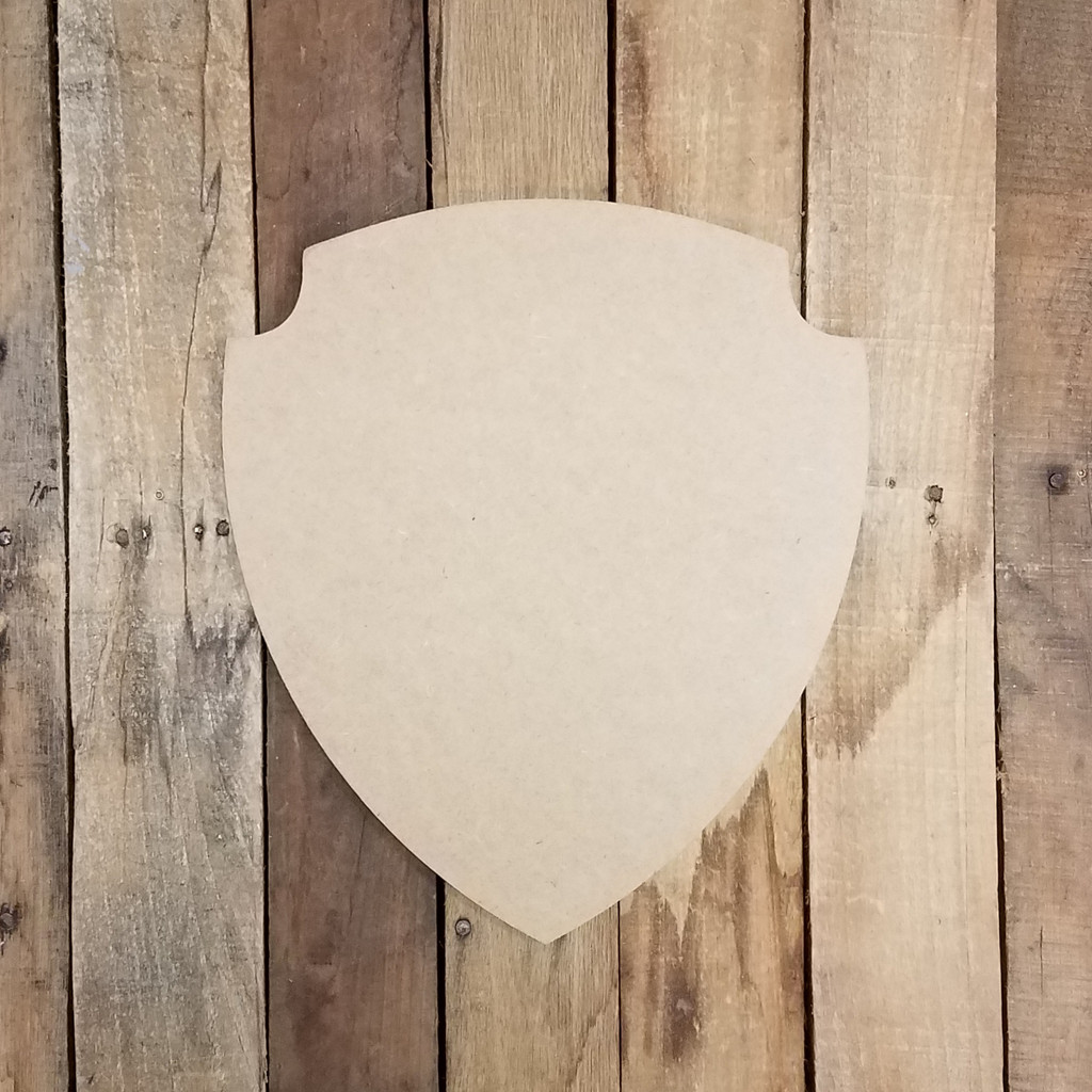 Police Officer Badge 2 Unfinished Cutout, Wooden Shape, Paintable Wooden MDF