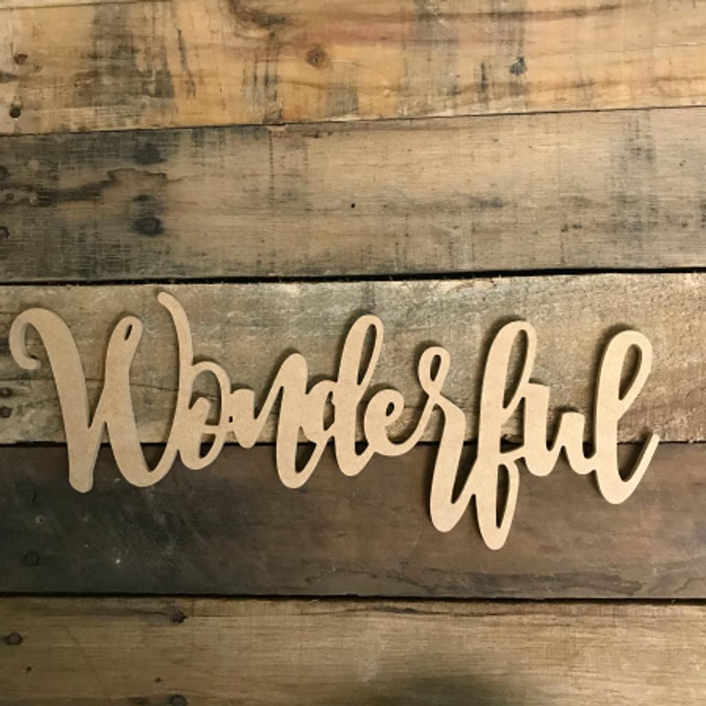 Wonderful Word, Unfinished Shape, Alphabet Paintable DIY