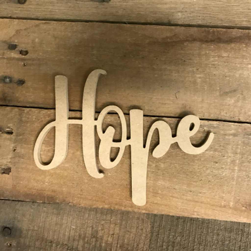 """/""""HOPE/"""" Christmas decoration freestanding wooden letters sign"""