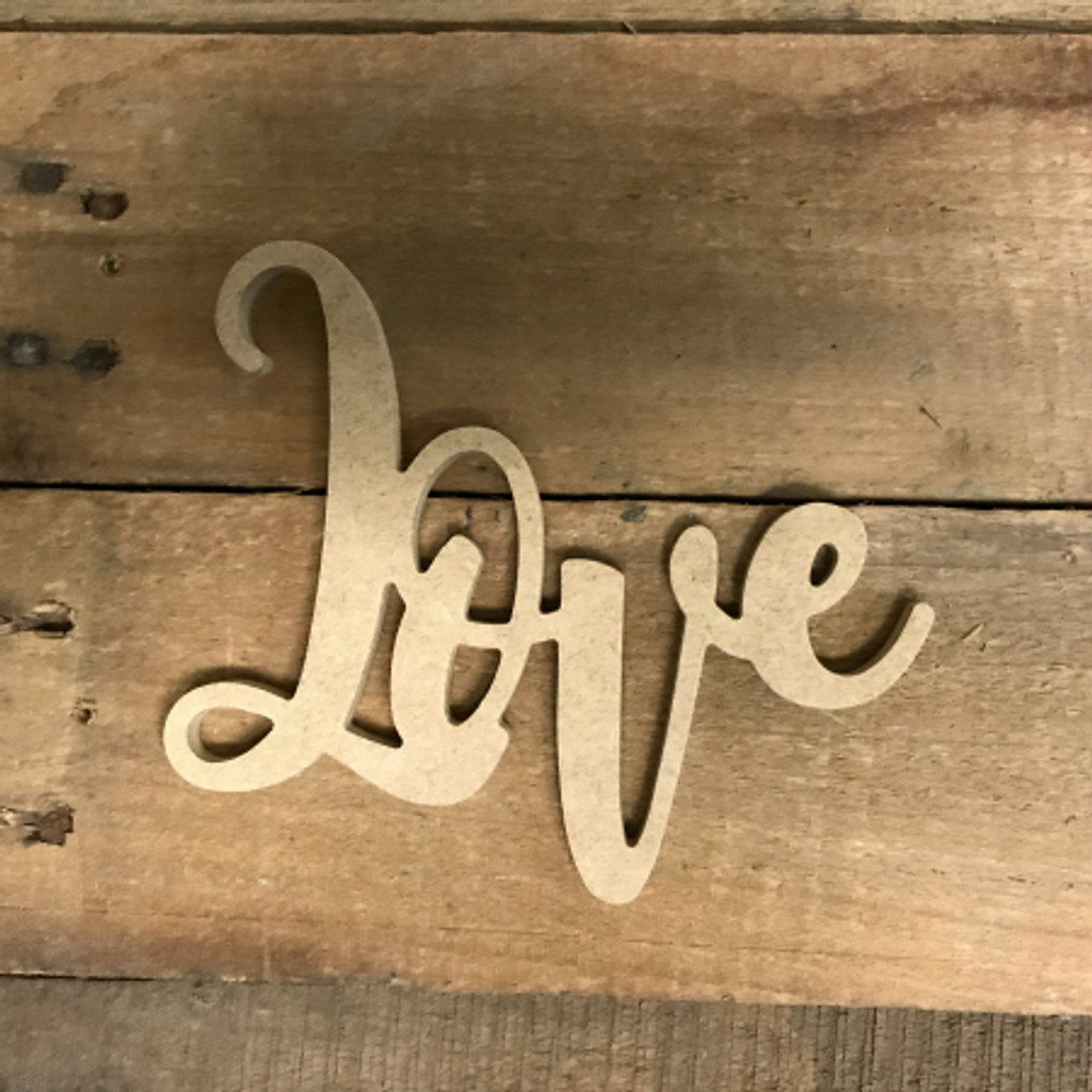 Love Word, Unfinished Shape, Alphabet Paintable DIY