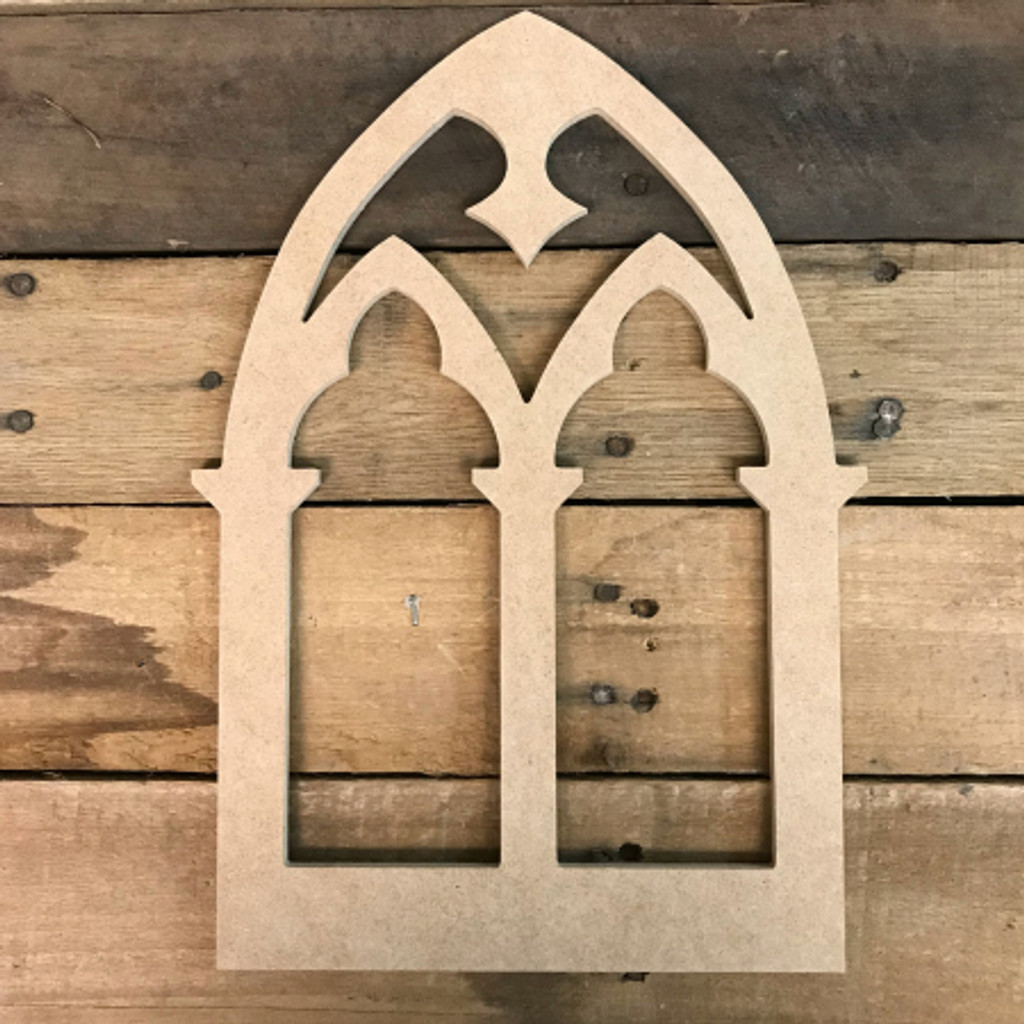 Decor Wooden Cathedral Arch Window Decor,  Wooden Cutout Craft