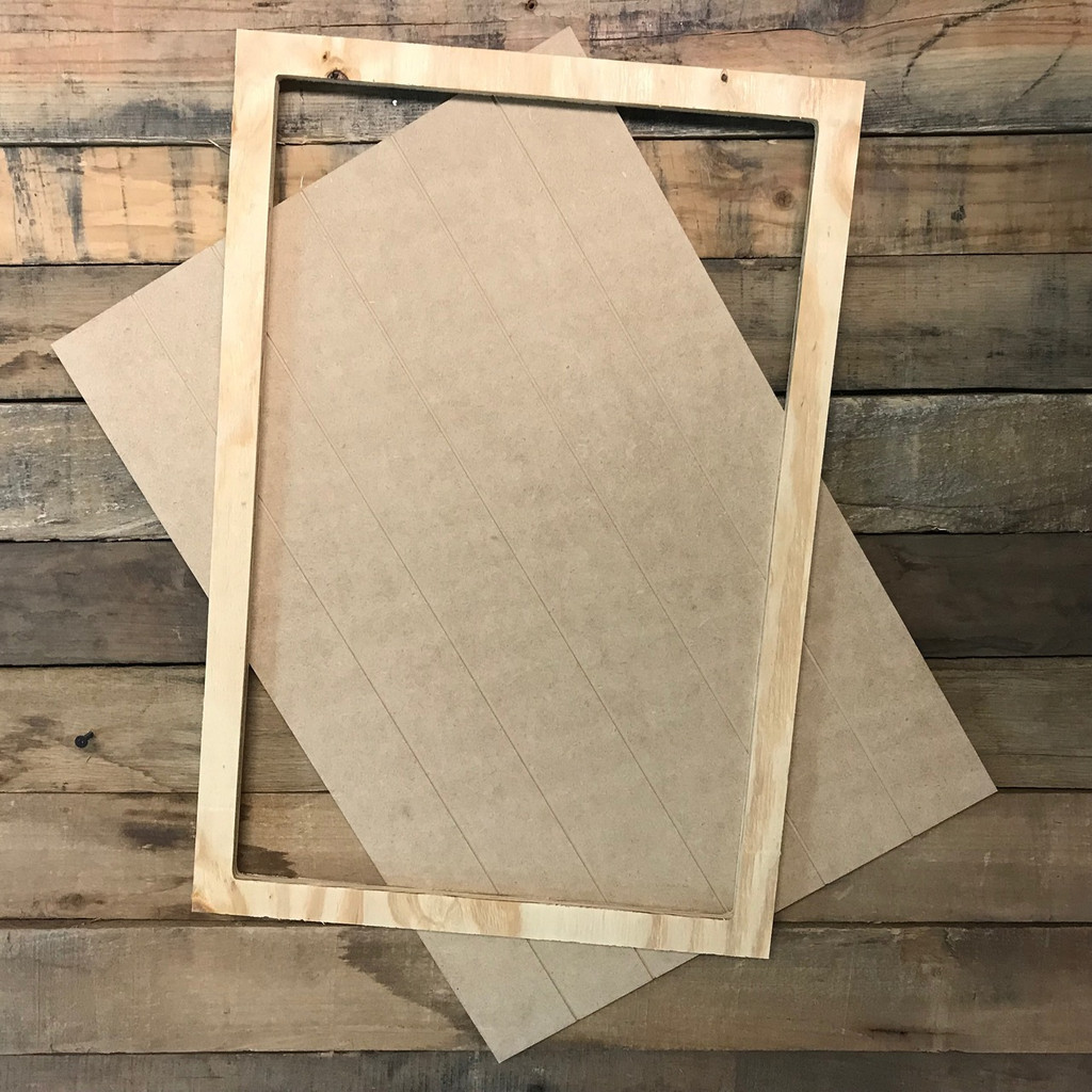 Unfinished 15 x 22 Faux Shiplap Farmhouse Decor Farmers Market Sign