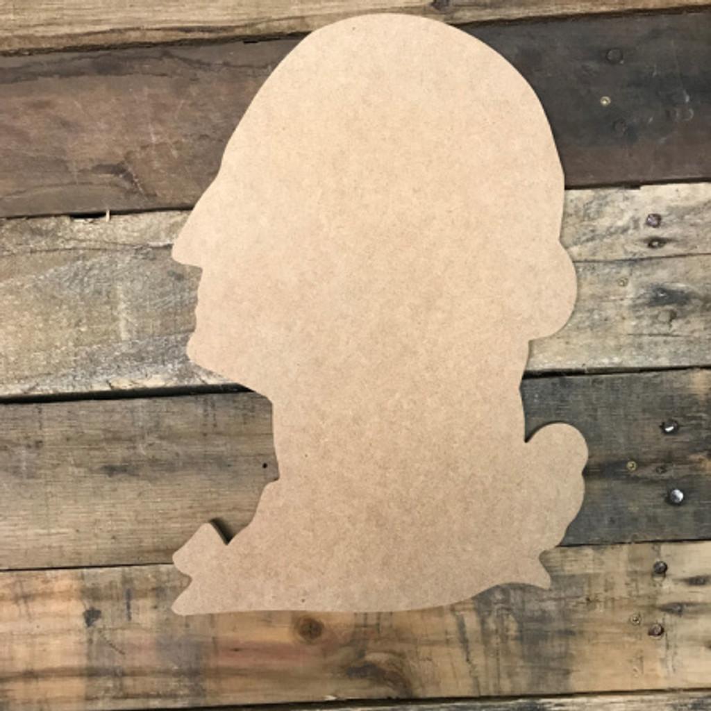 George Washington, Unfinished Cutout, Craft Wood Shape
