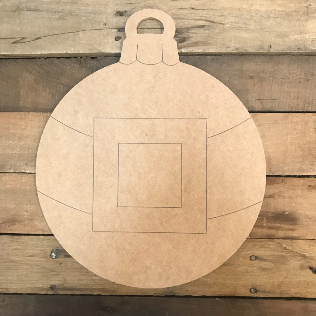 Ornament with Santa Belt, Unfinished Wooden Craft, Paint by Line