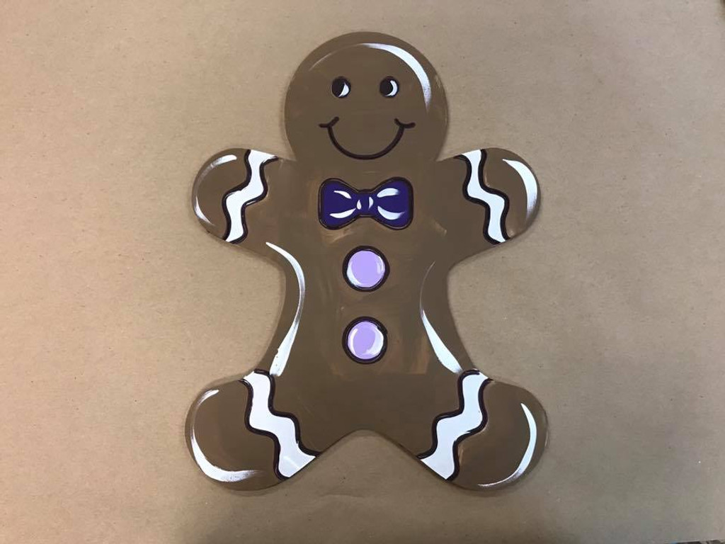 Gingerbread Man Unfinished Wooden Craft Paint By Line