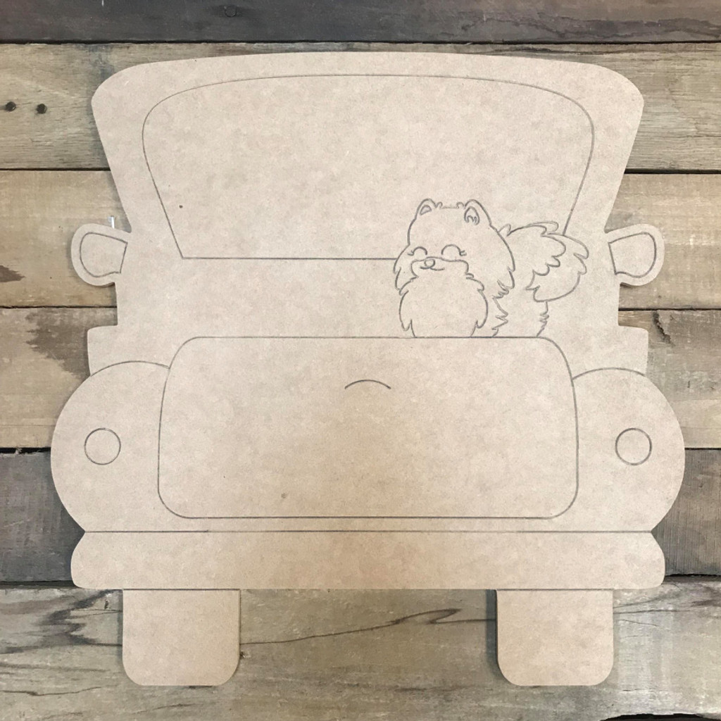 Pomeranian Truck, Unfinished Craft, Paint by Line