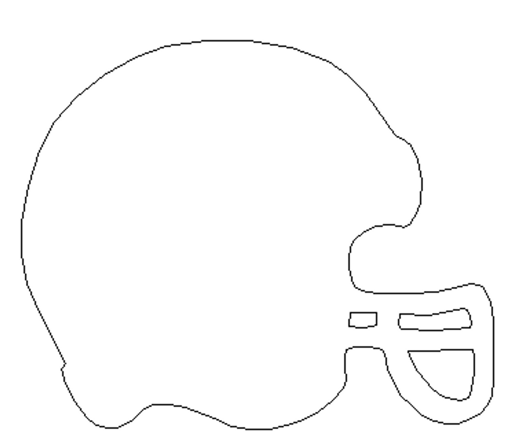 New Football Helmet Unfinished Cutout,  Shape, Paintable Wooden MDF