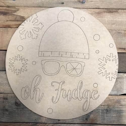 Christmas Story Circle, Wood Cutout, Shape, Paint by Line
