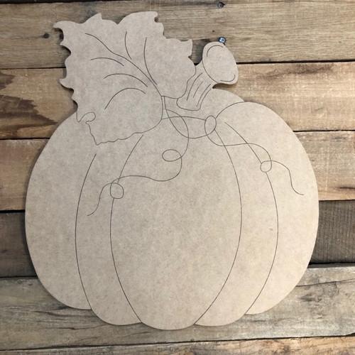 Fall Pumpkin, Unfinished Shape, Paint by Line