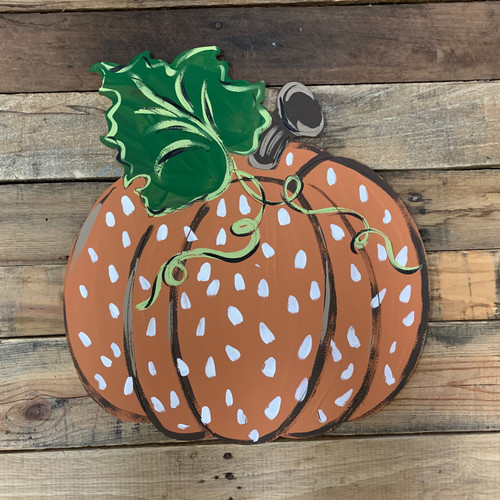 Fall Pumpkin, Unfinished Shape, Paint by Line