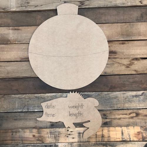 Fishing Baby Announcement, Door Hanger Paint by Line