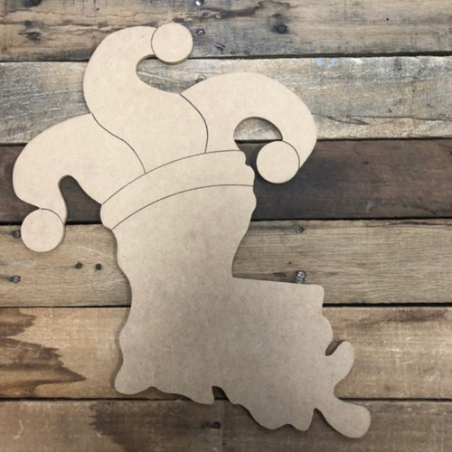 Louisiana with Hat Cutout, Unfinished Shape, Paint by Line