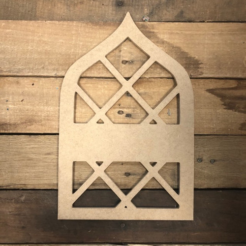 Cathedral Blank Frame Wooden - Unfinished  DIY Craft