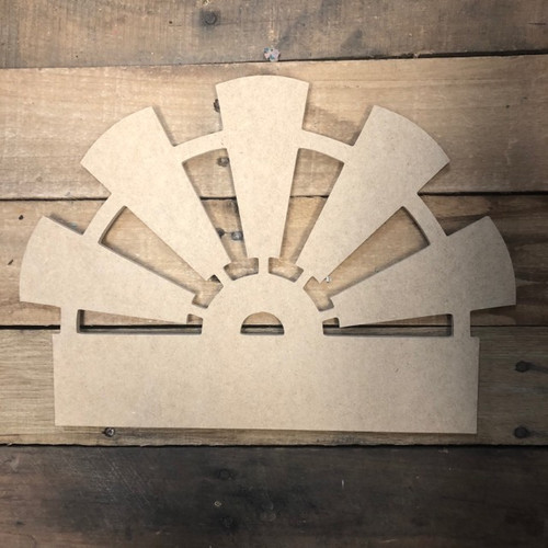 Windmill Blank Frame Wooden - Unfinished  DIY Craft