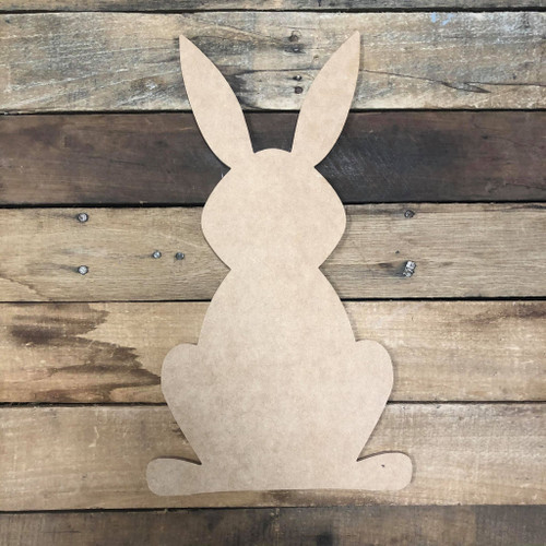 Newer Easter Bunny Wooden Shape, Paintable Wooden MDF