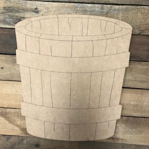 Wooden Barrel Shape, Wood Cutout, Shape Paint by Line