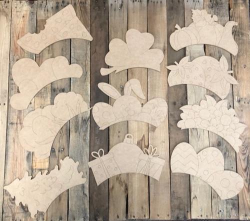Seasonal Shapes from 24'' Wheelbarrow Kit, Paint by Line, Cutout