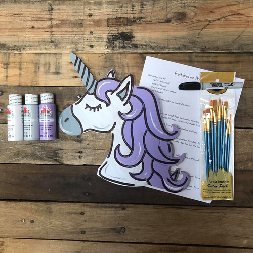 Unicorn, DIY Wood Cutout, Video Tutorial and Instructions