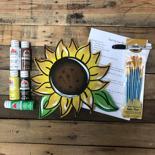 Sunflower Paint Kit, Video Tutorial and Instructions