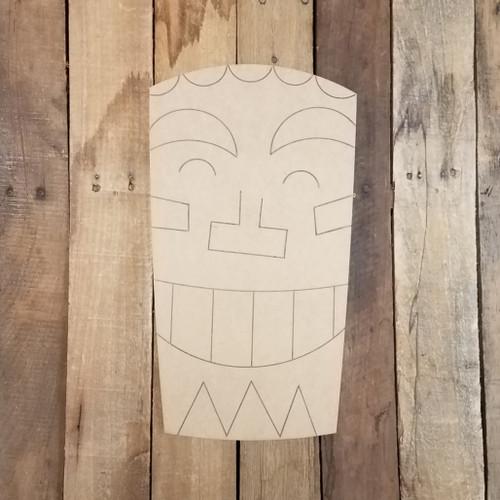Tiki Hawaiian Backyard Statue 2 Wood Shape, Paint by Line