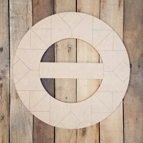 Circle Barn Quilt Kit, Unfinished Shape, Paint by Line Set