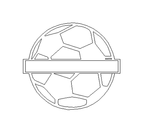 Personalized Soccer Ball Name Frame Sign, Unfinished Craft