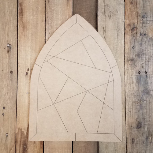 Decorative Stained Glass Window Pattern Wood Shape, Paint by Line